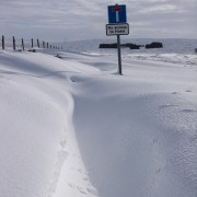 Deep snow at the Glen Etive junction