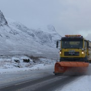 Snow plough in Glencoe