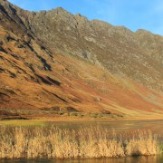 Autumn view of the Aonach Eagach Ride, Glencoe