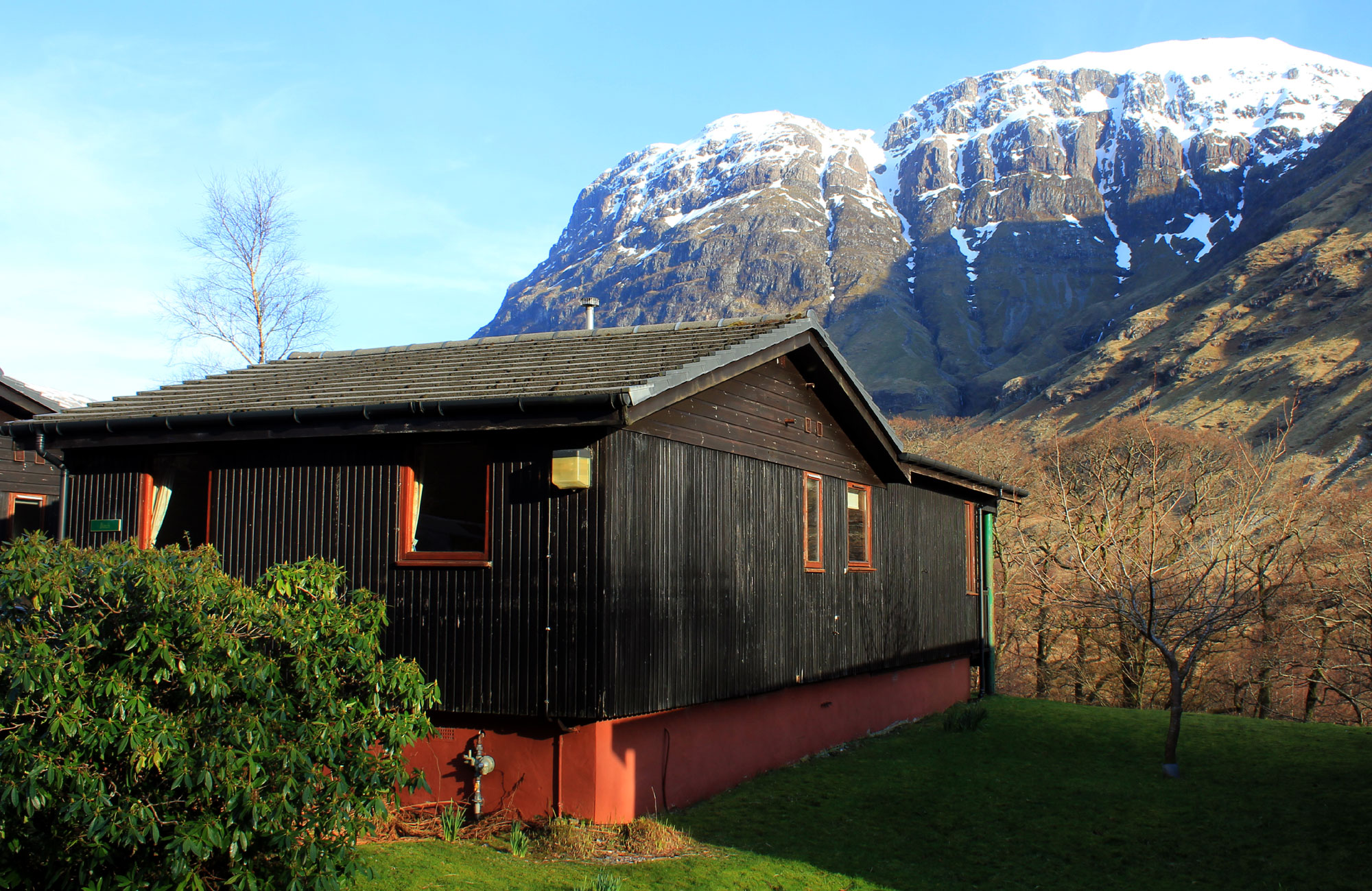 Birch Chalet in the spring, Glencoe