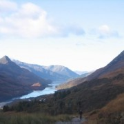 Nearing Rob Roy View but still climbing. The view down Loch Leven to the Pap of Glencoe gradually reveals itself.