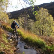 The last sections of track are some of the best for mountain biking.