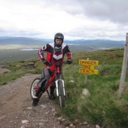 Preparing to tackle the black downhill mountain bike track.
