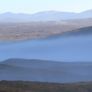 November mist and Rannoch Moor