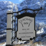 Winter Clachaig Sign