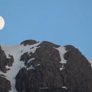 Moon rise over Aonach Dubh