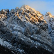 Morning light on the Aonach Eagach ridge