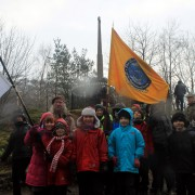 Local school children at the annual MacDonald memorial gathering