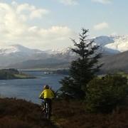 Biking above Ballachulish village