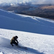 Perfect day skiing at Nevis Range