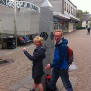 David & Vivienne set out on the WHW - Milngavie to Fort William