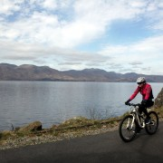 Loch side cycle path