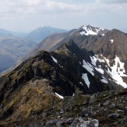 Central part of the Aonach Eagach Ridge, Glencoe