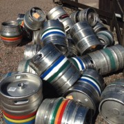 Empty kegs on a Sunday morning
