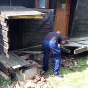 Birch Chalet walkway repair
