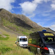Glencoe Mountain Rescue trucks