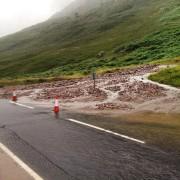 A82 flood