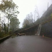 Landslide on the A82 south of Fort William