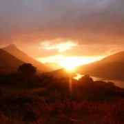 Sunset from high above Kinlochleven.