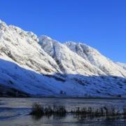 The Aonach Eagach from Loch Achtriochtan