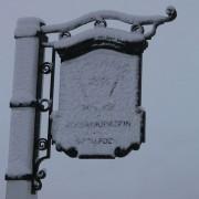 Snowy Sign - Clachaig Inn, Glencoe