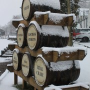 A wintry scence to welcome you at Clachaig Hotel, Glencoe