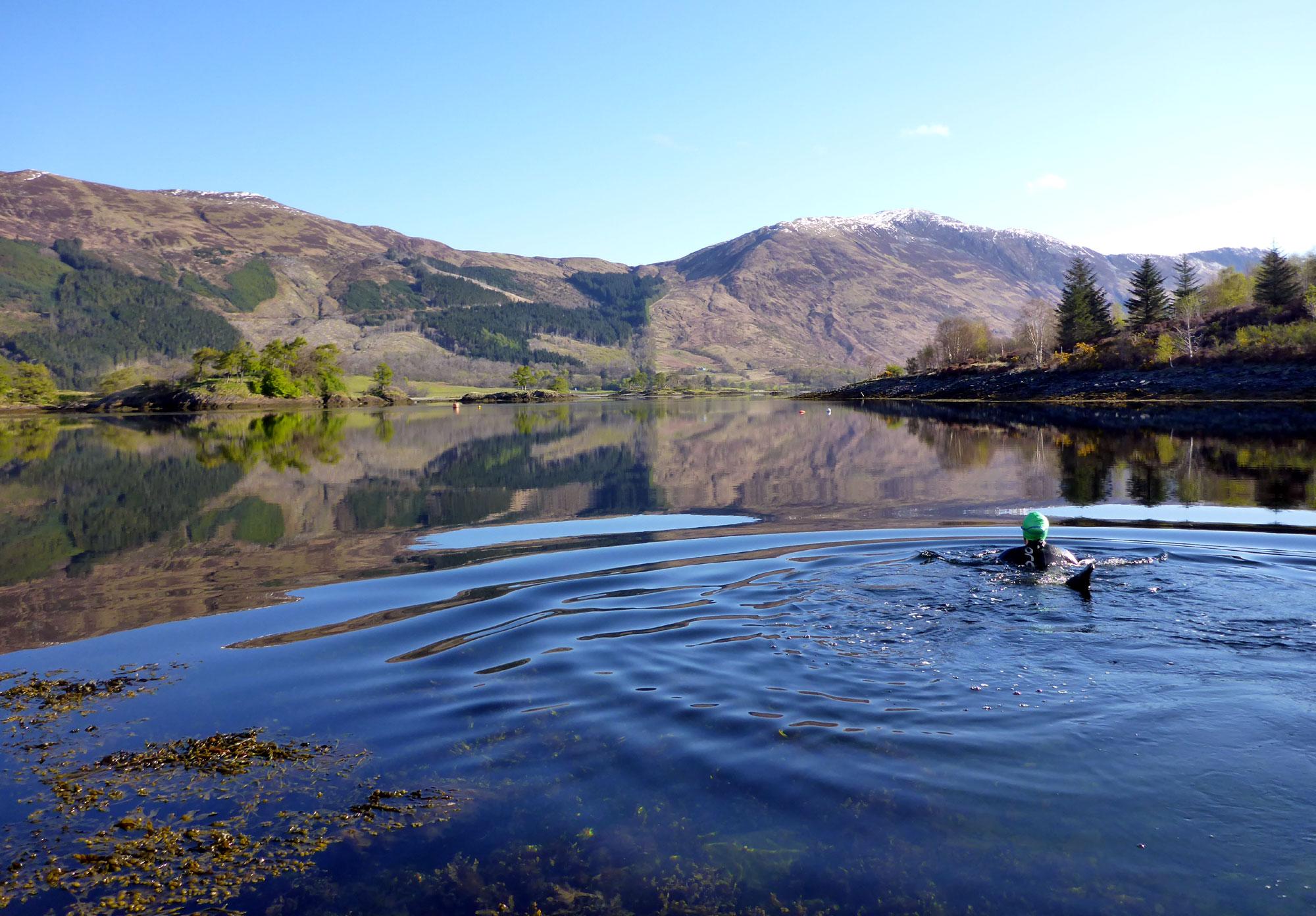 Bobbing about in Loch Leven