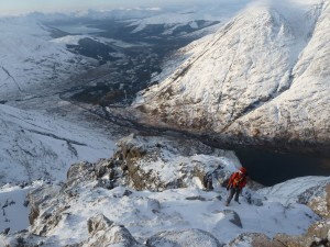 Andy Nelson above Glencoe